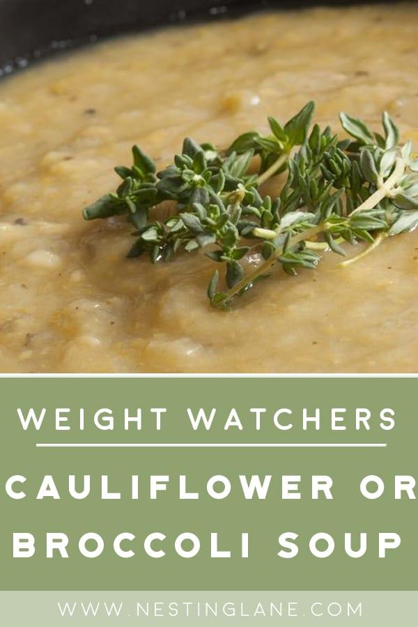Weight  Watchers Cauliflower Soup