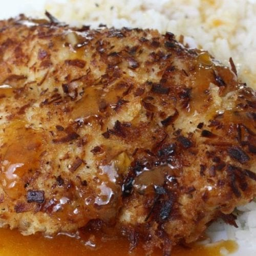 Coconut Chicken on a plate