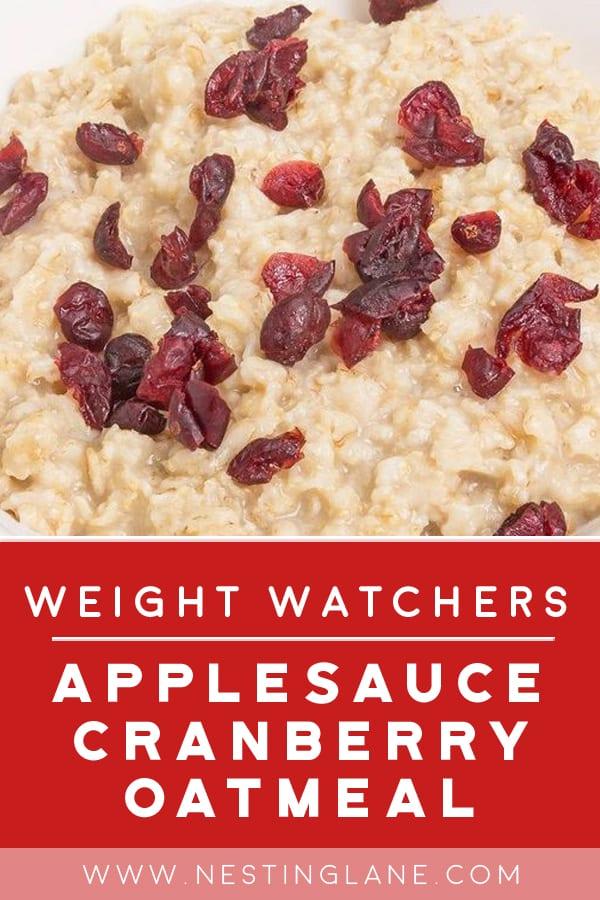 Weight Watchers Cranberry Applesauce Oatmeal