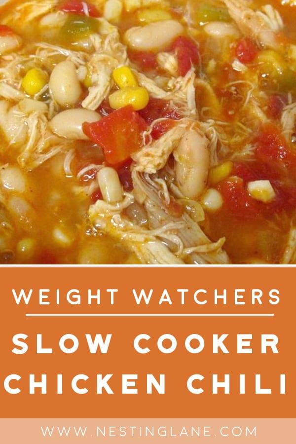 Weight Watchers Slow Cooker Chicken Chili