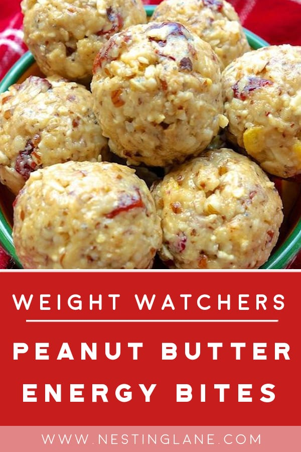 Weight Watchers Peanut Butter Energy Balls