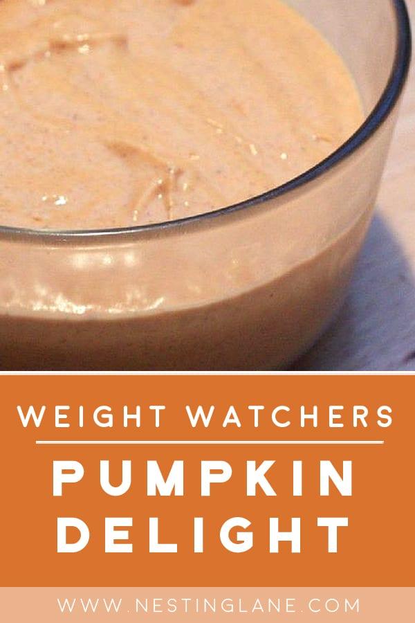 Pumpkin Dessert in a glass bowl
