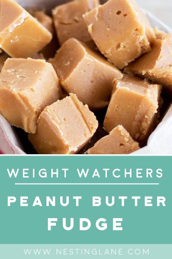 Weight Watchers Peanut Butter Fudge in a bag.
