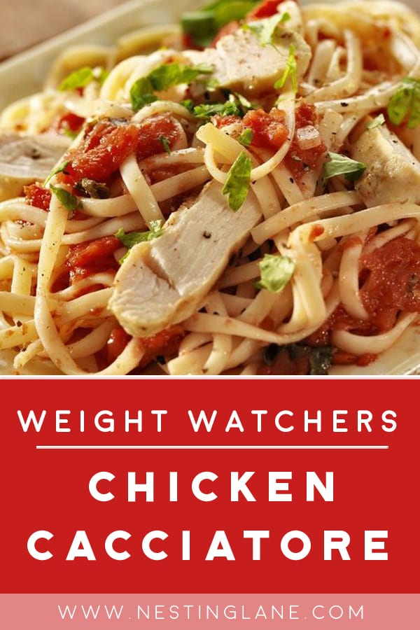 Weight Watchers Chicken Cacciatore on a plate