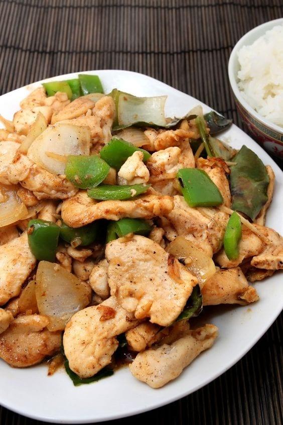Generals Chicken on a plate