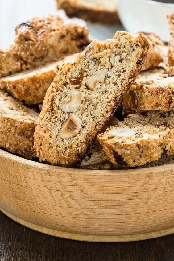 Biscotti in a bowl