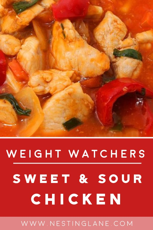 Weight Watchers Slow Cooker Sweet & Sour Chicken in a bowl