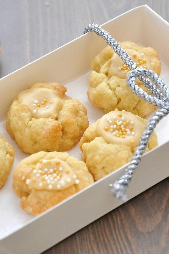 Weight Watchers Eggnog Thumbprint Cookies
