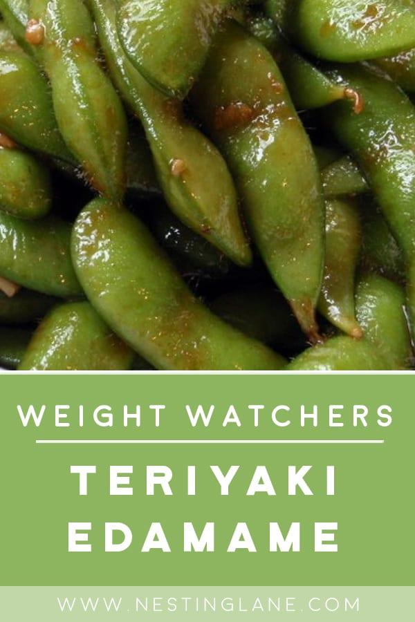 Weight Watchers Garlic Teriyaki Edamame