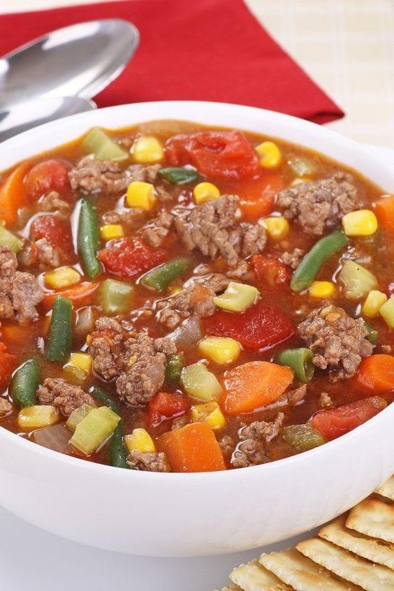 Weight Watchers Vegetable Hamburger Soup
