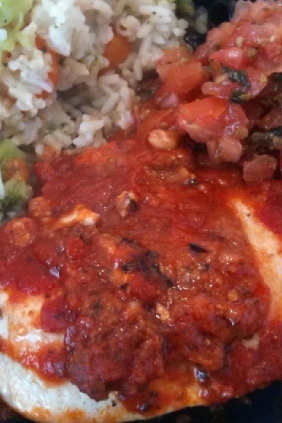 Mexican Chicken on a plate