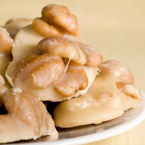 Pralines on a plate