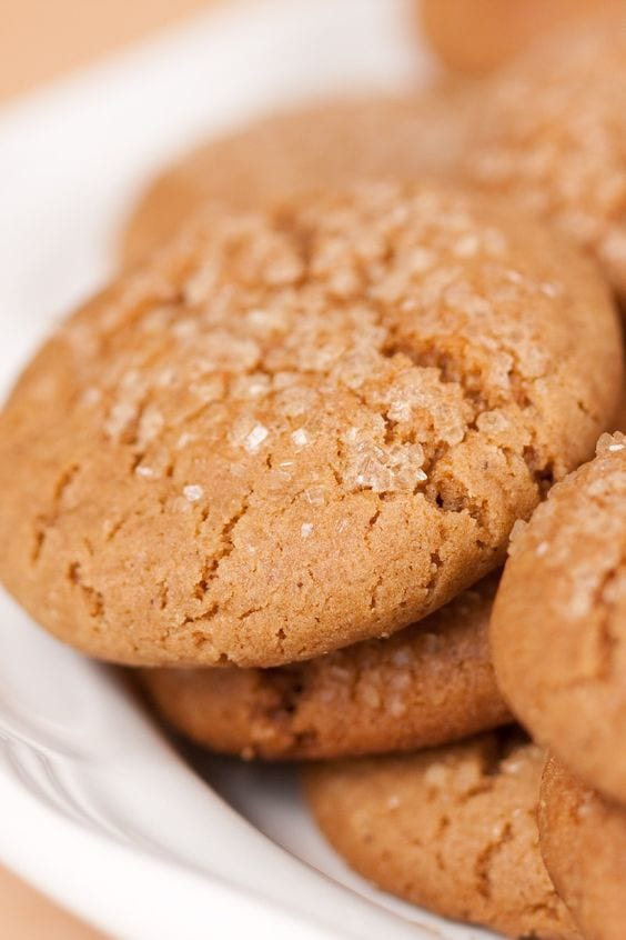 Weight Watchers Molasses Sugar Cookies on a plate