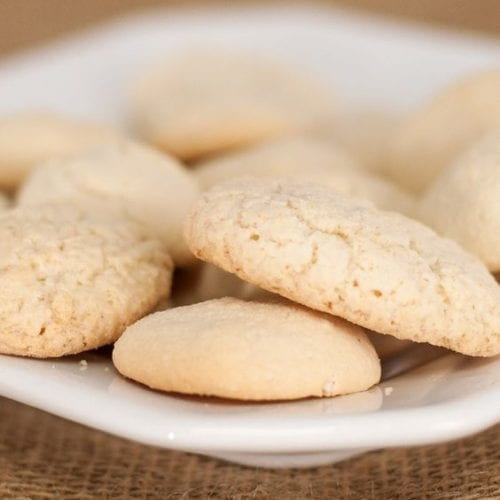 Shortbread Cookies on a plate