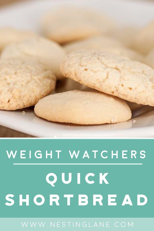 Weight Watchers Easy Shortbread Cookies