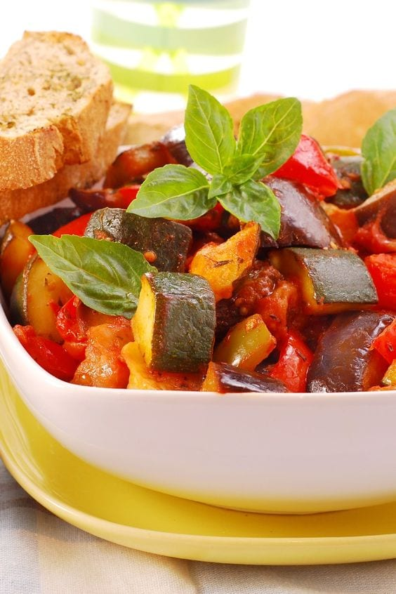 Weight Watchers Slow Cooker Ratatouille in a bowl