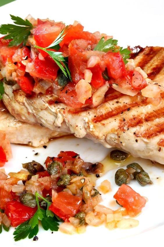 Weight Watchers Salsa Chicken on a plate