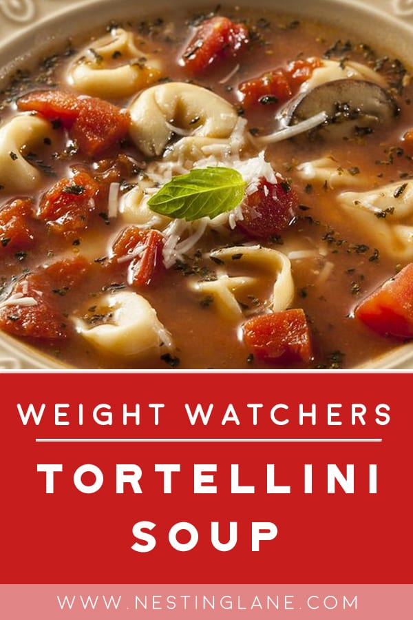Weight Watchers Spinach Tortellini Soup in a bowl
