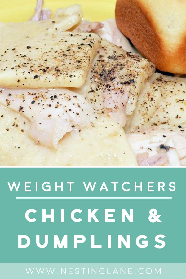 Weight Watchers Chicken and Dumplings in a bowl