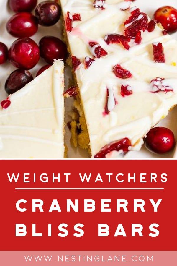Weight Watchers Starbucks Copycat Cranberry Bliss Bars on a plate