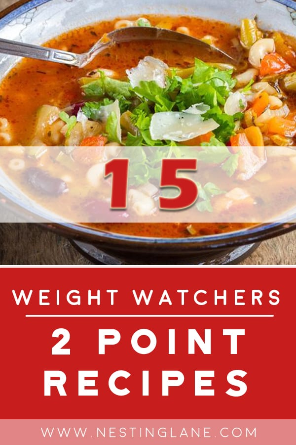 15 Weight Watchers 2 Point Recipes Graphic