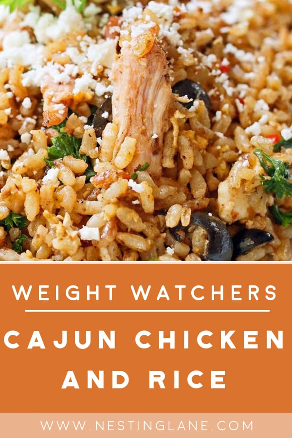 Weight Watchers Cajun Chicken and Rice on a plate