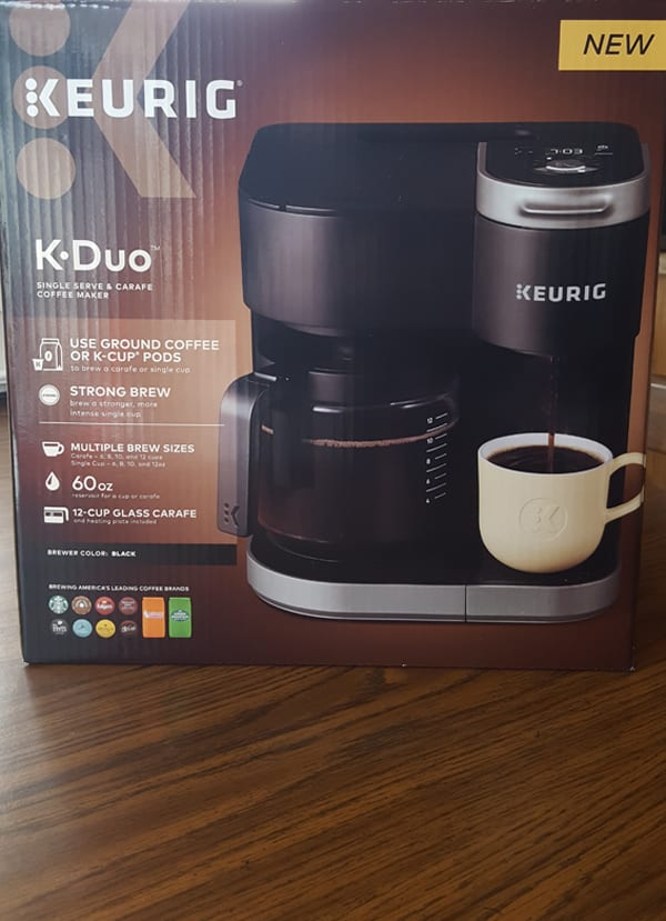 Keurig K-Duo Coffee Maker box