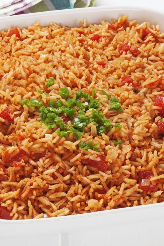 Weight Watchers Spanish Rice in a bowl