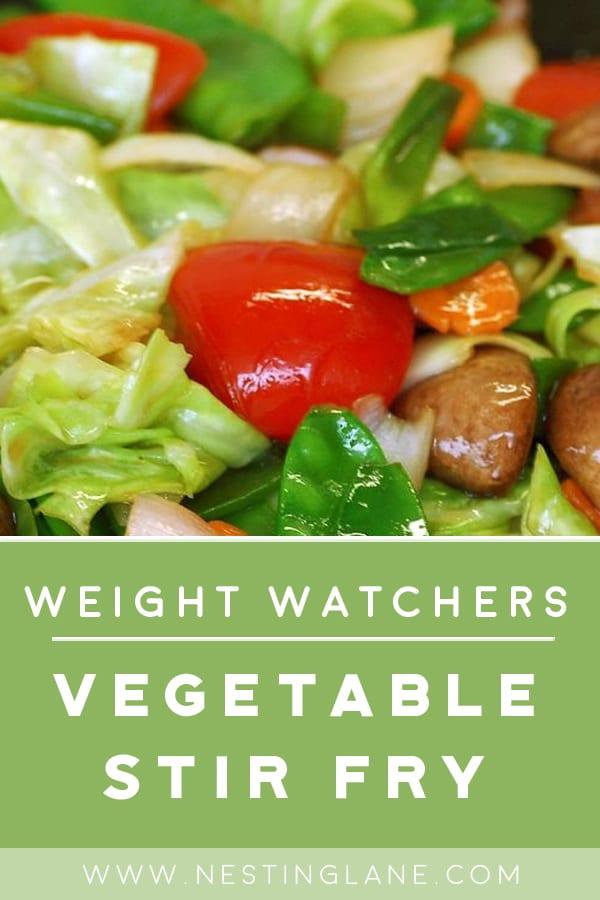 Weight Watchers Vegetable Stir Fry