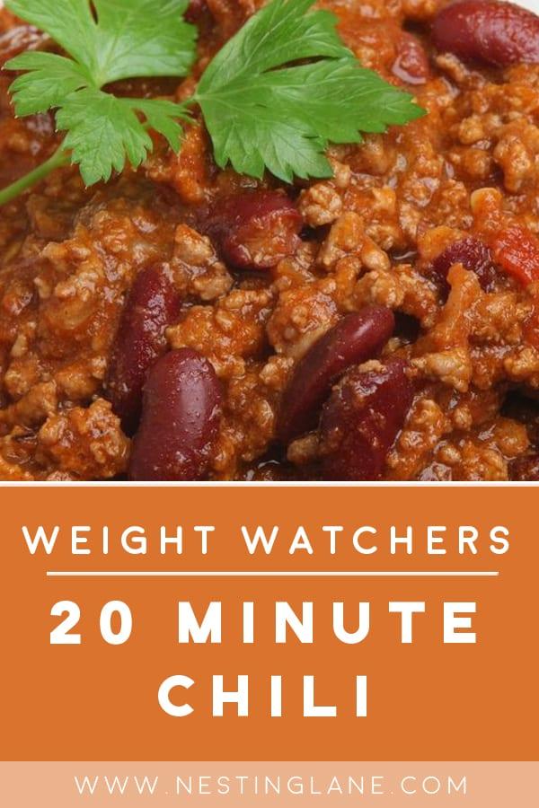 Weight Watchers Twenty Minute Chili