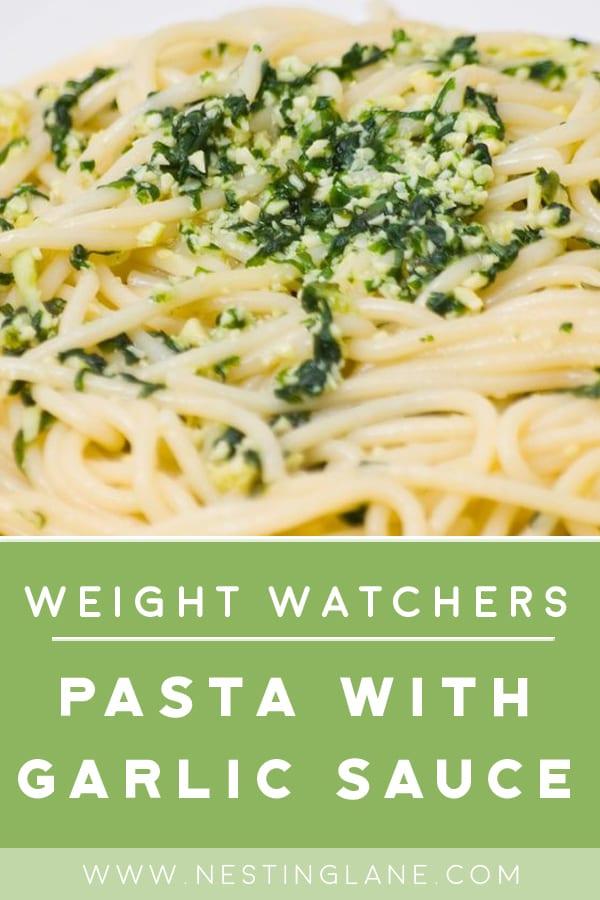 Weight Watchers Pasta with Garlic Sauce