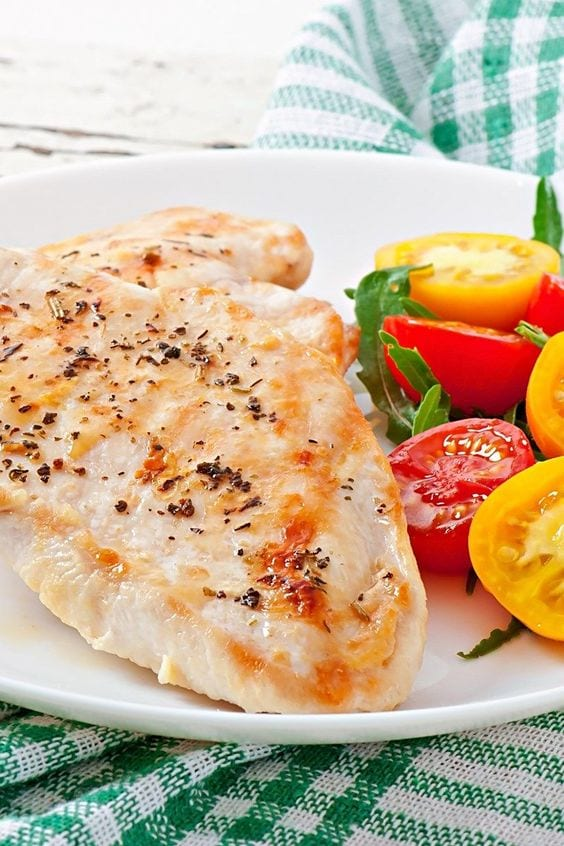 Weight Watchers Lemon and Herb Chicken on a plate