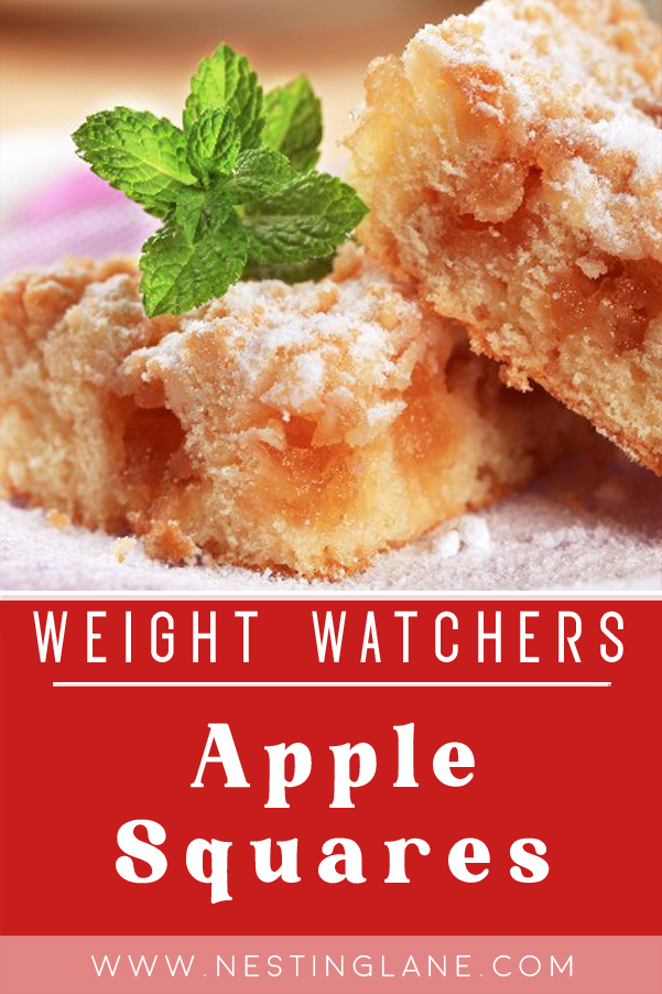 Graphic for Pinterest of Weight Watchers Apple Squares Recipe