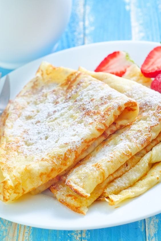Weight Watchers Simple Crepes on a plate