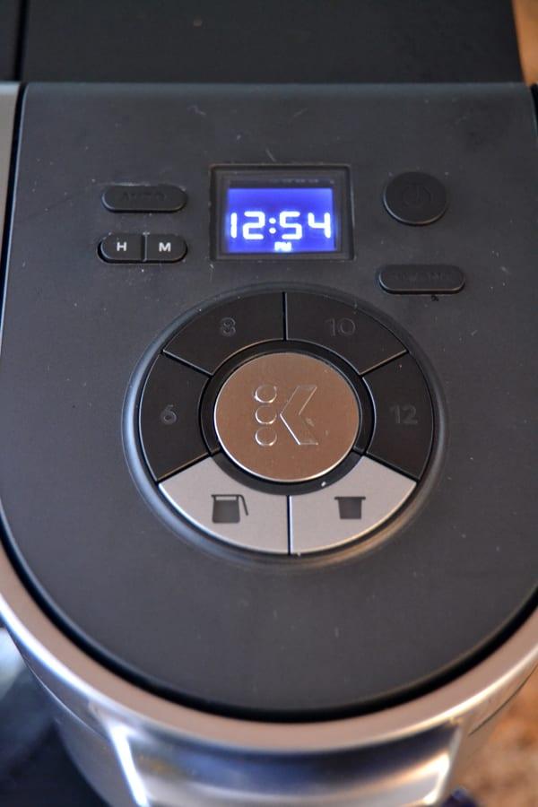 Keurig K-Duo Coffee Maker buttons