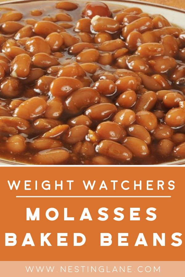 Weight Watchers Molasses Baked Beans in a bowl