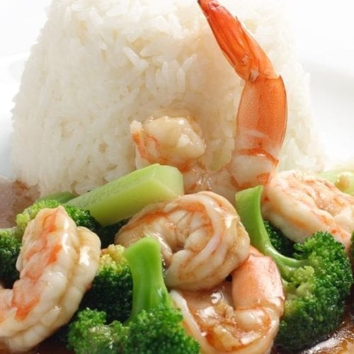 Weight Watchers Chinese Stir-Fry Garlic Shrimp