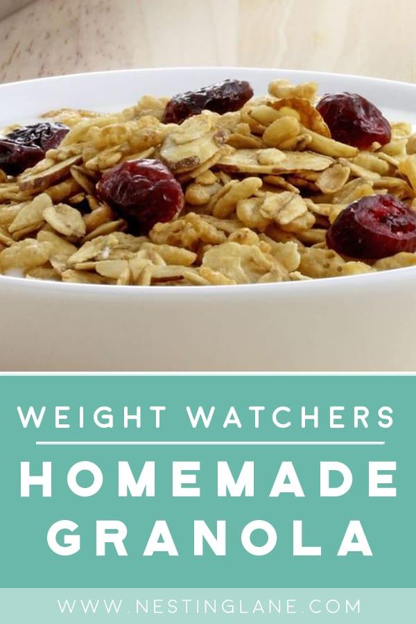 Weight Watchers Homemade Granola