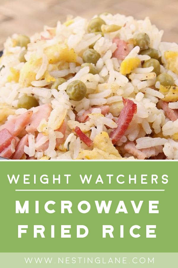 Weight Watchers Microwave Fried Rice in a bowl