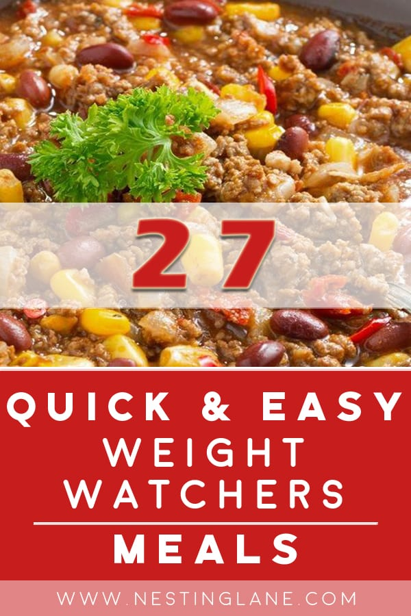 Weight Watchers Meals: Quick and Easy