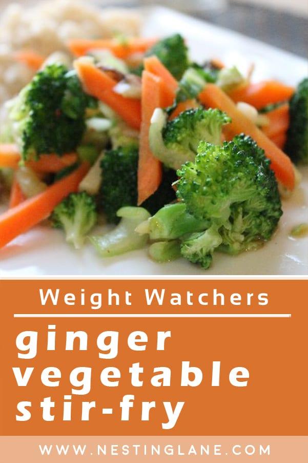 Weight Watchers Ginger Vegetable Stir-Fry
