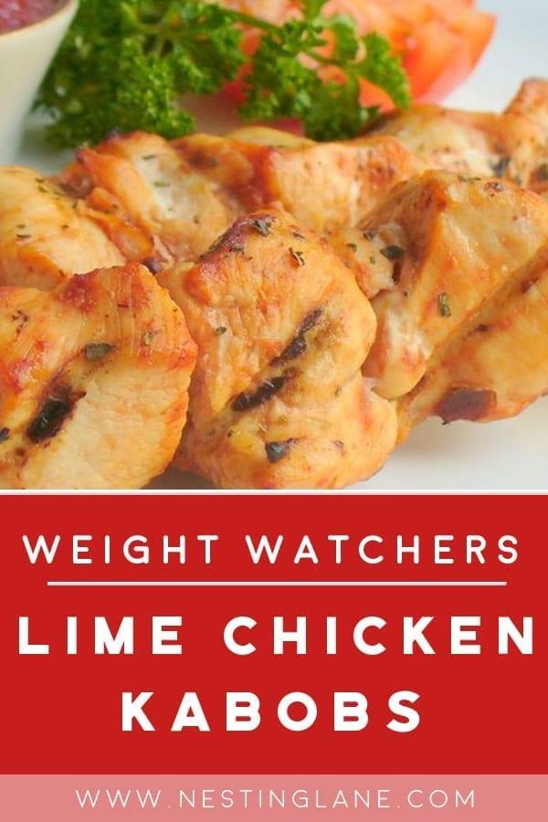 Weight Watchers Lime Chicken Kabobs