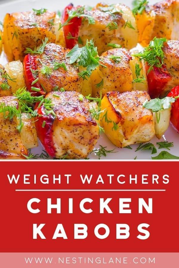 Weight Watchers Grilled Chicken Kabobs