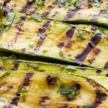 Weight Watchers Grilled Balsamic Zucchini