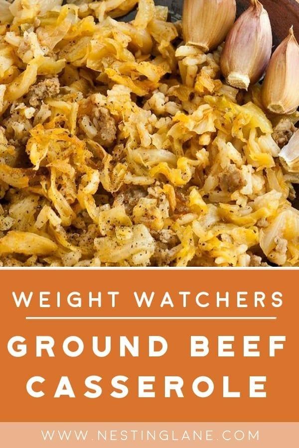 Weight Watchers Ground Beef Casserole with Cabbage