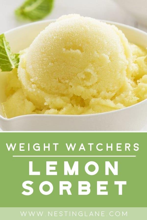 Weight Watchers Lemon Sorbet