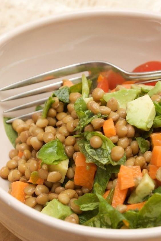 Weight Watchers Mediterranean Lentil Salad