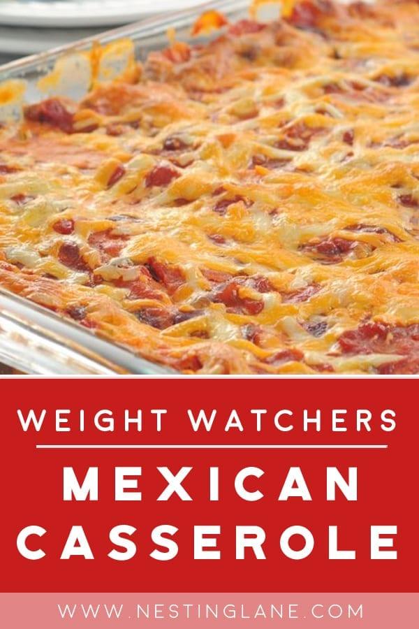 Weight Watchers Mexican Ground Beef Casserole