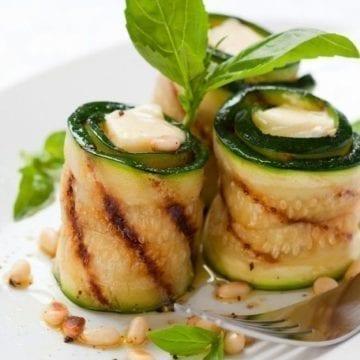 Weight Watchers Grilled Zucchini Rolls