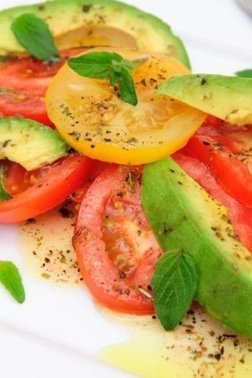 Weight Watchers Tomato and Avocado Salad